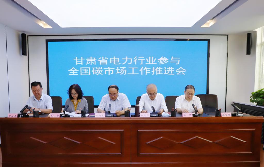 甘肃省生态环境厅召开全省电力行业参与全国碳市场工作推进会